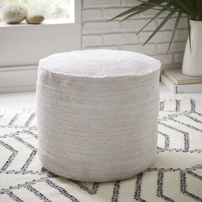 Braided pouf from West Elm