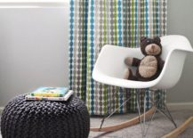 Braided pouf in a modern nursery