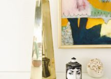 Brass obelisk from Sabine Vintage Home 217x155 The Obelisk: a Bold Statement for Design Lovers