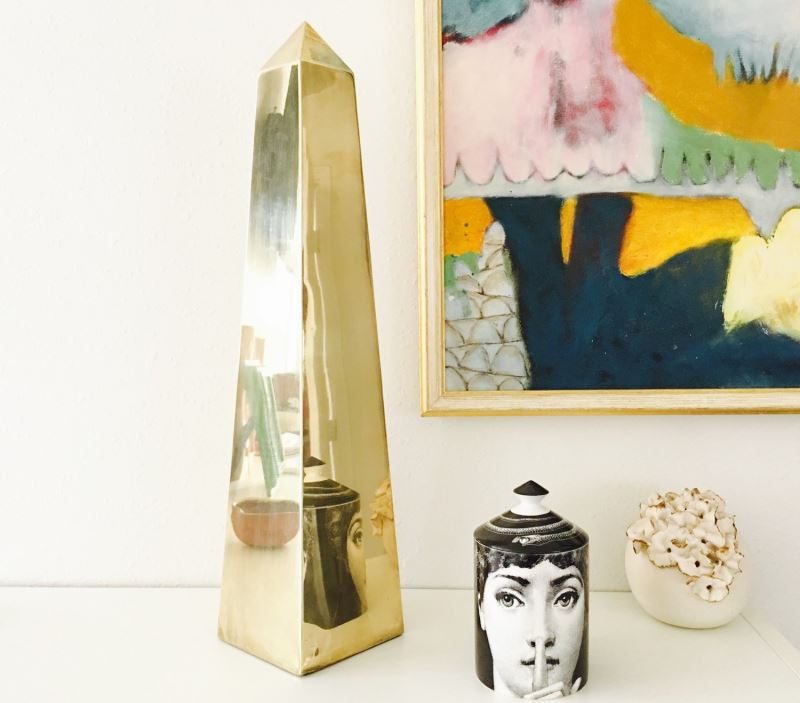 Brass obelisk from Sabine Vintage Home