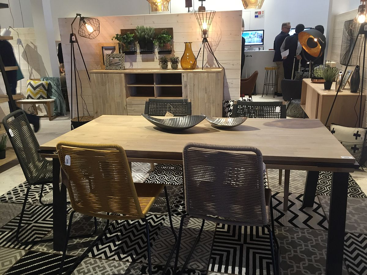 Breezy and beautiful dining space decor from La Forma 40 Dining Room Ideas That Caught Our Eye at Milan 2016
