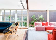 Bright and colorful furniture bring the interior of the Brazilian home alive 217x155 A World of Green: Cheerful São Paulo Residence with Vibrant Pops of Color