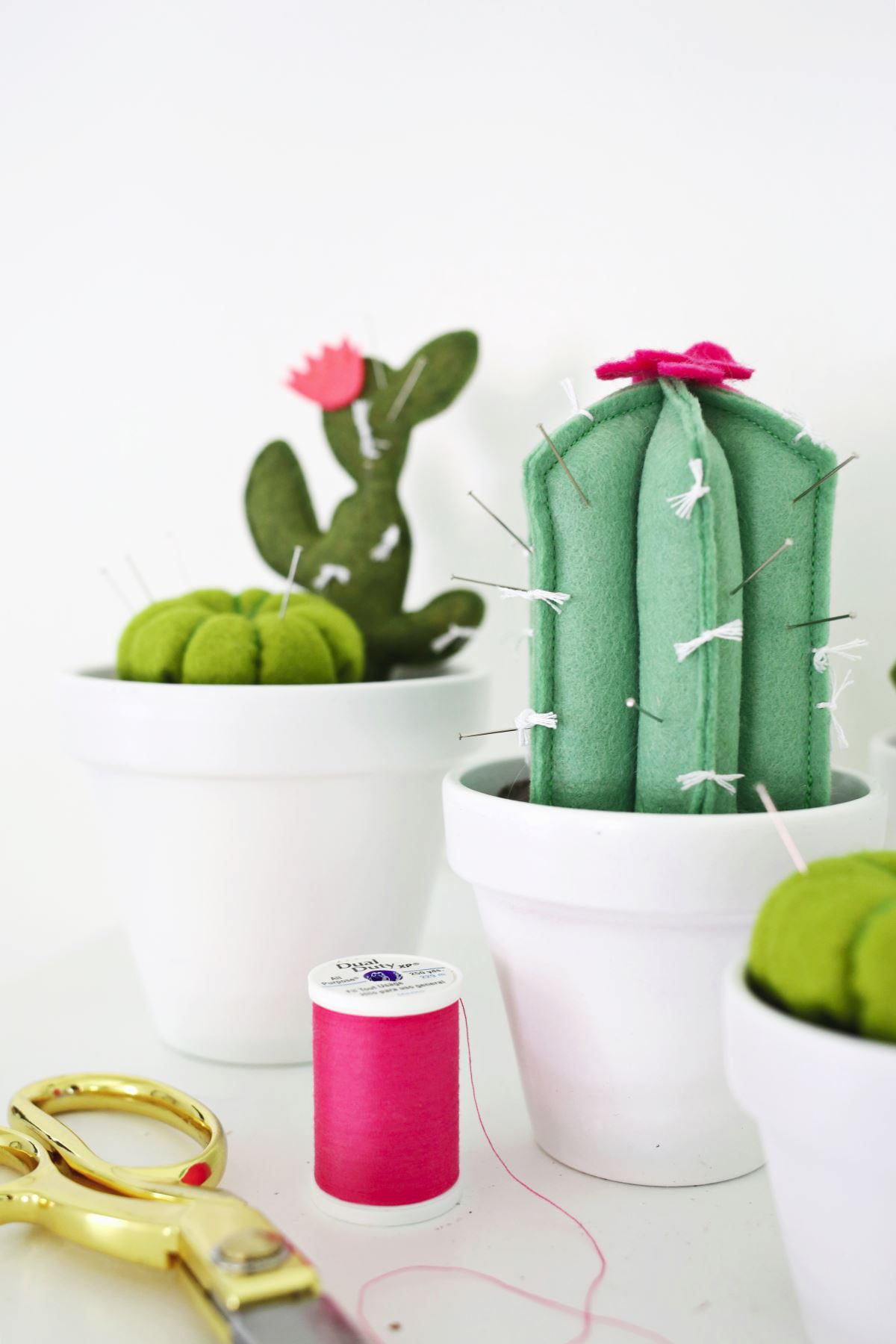Cactus pincushions from A Beautiful Mess