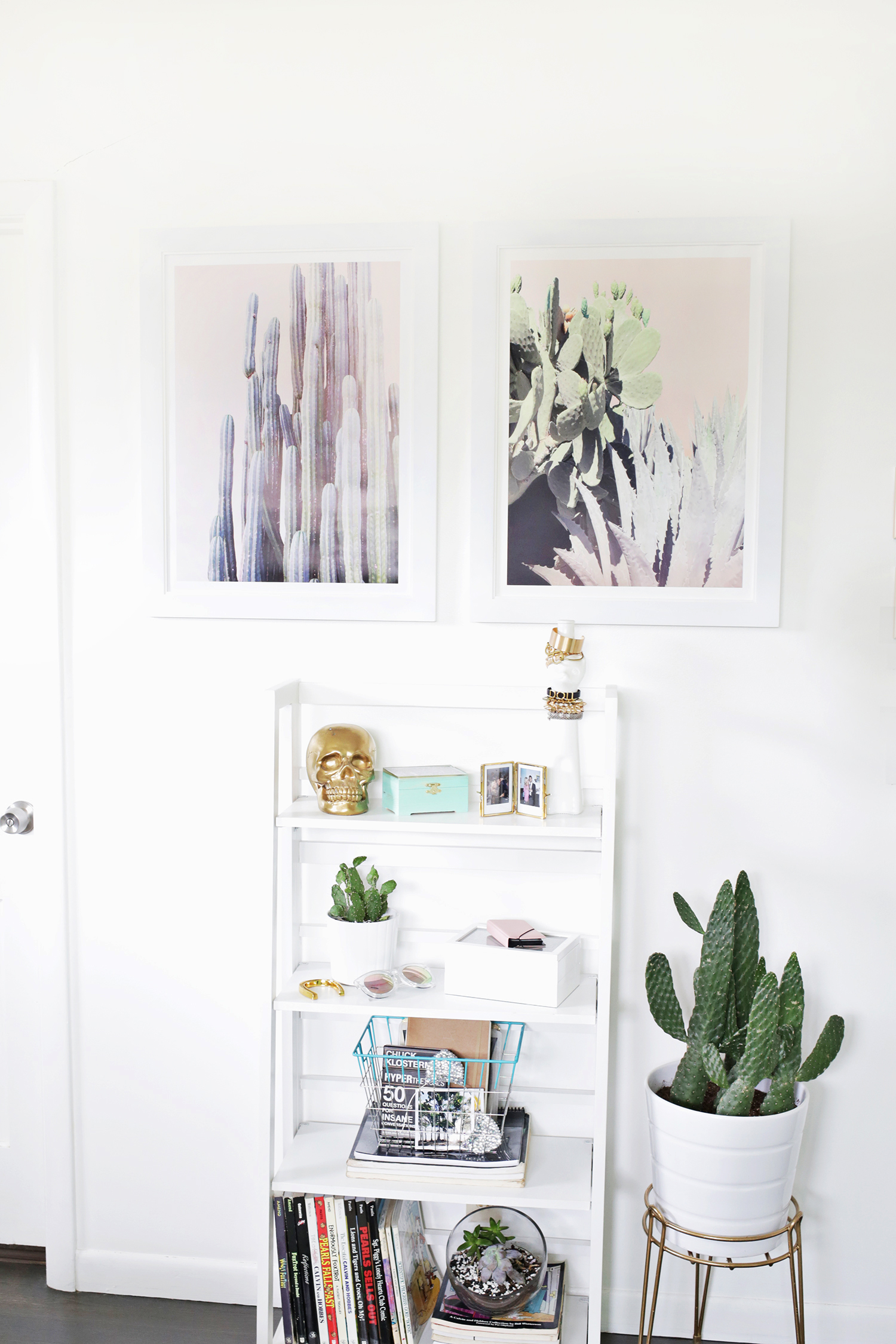 Cactus style in a bedroom by A Beautiful Mess