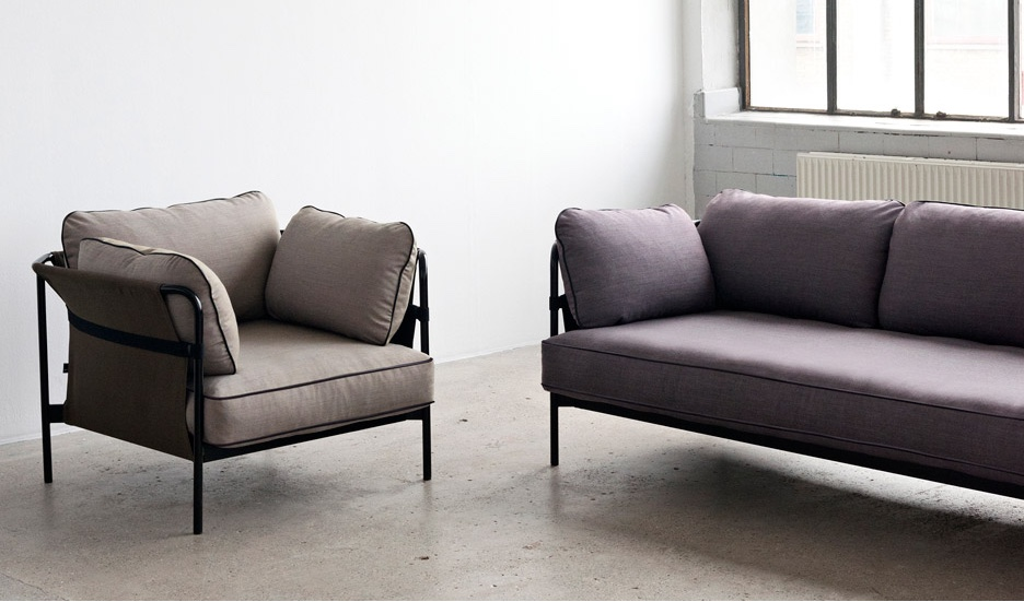 """Can"" armchair and sofa."