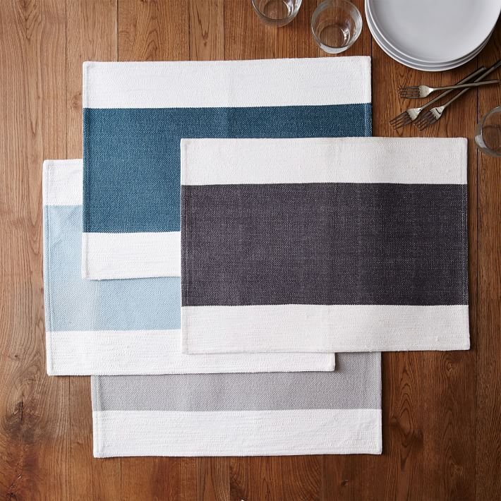 Center stripe placemats from West Elm