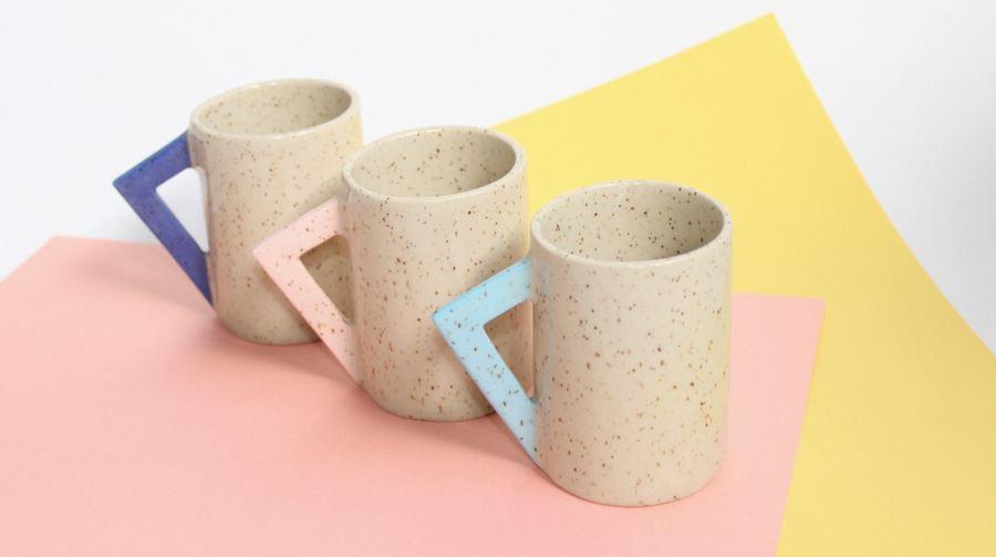 Ceramic mugs from Lindsey Hampton