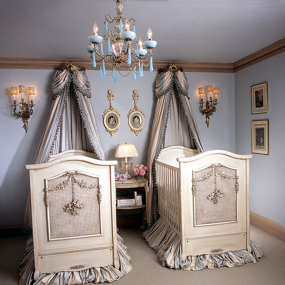 Cherubini cribs by designer Betty Lou Phillips steal the show inside this Victorian nursery [From: AFK Furniture]