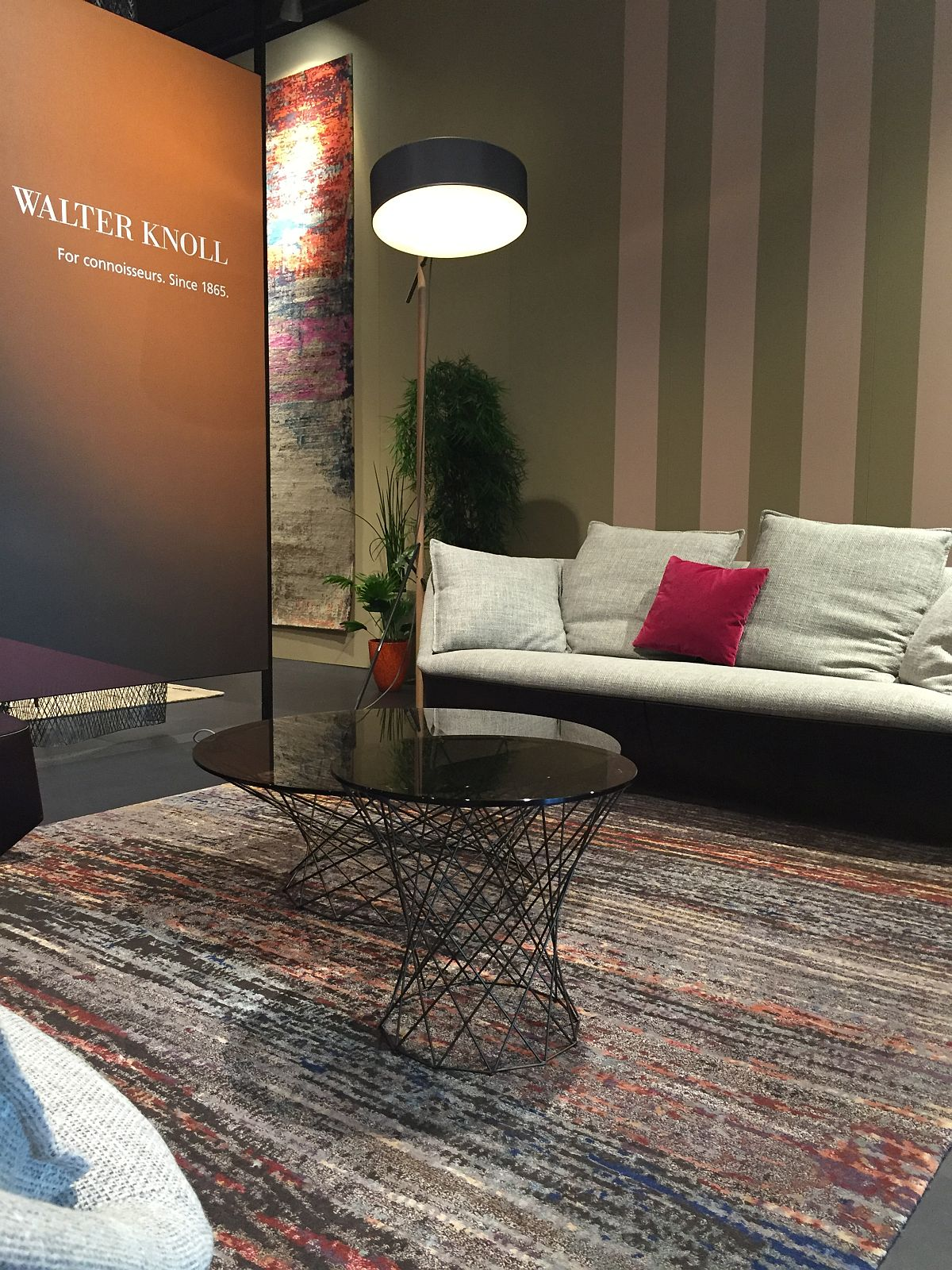 Coffee tables and couch from Walter Knoll at Salone del Mobile 2016