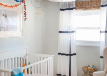 Colorful ceiling makes perfect sense in the nursery