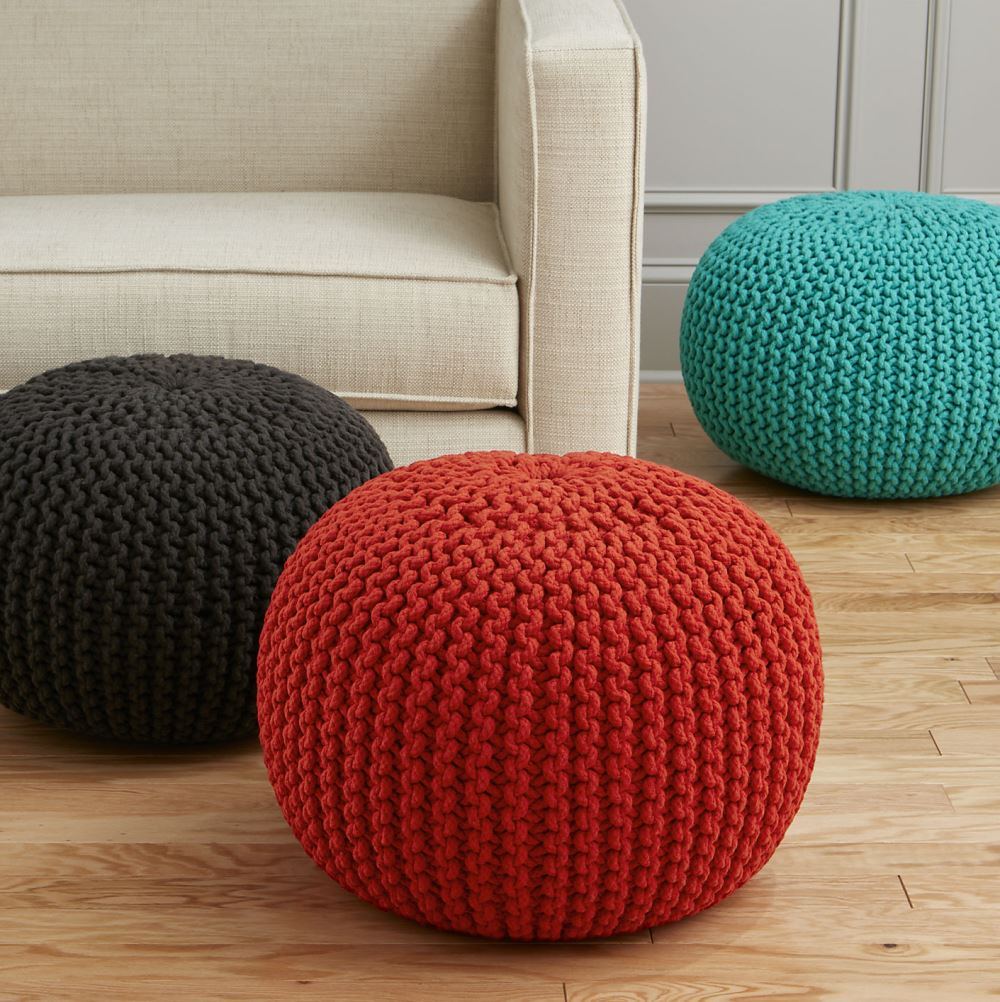 Colorful poufs from CB2 Modular Style: 10 Handy Uses for the Pouf