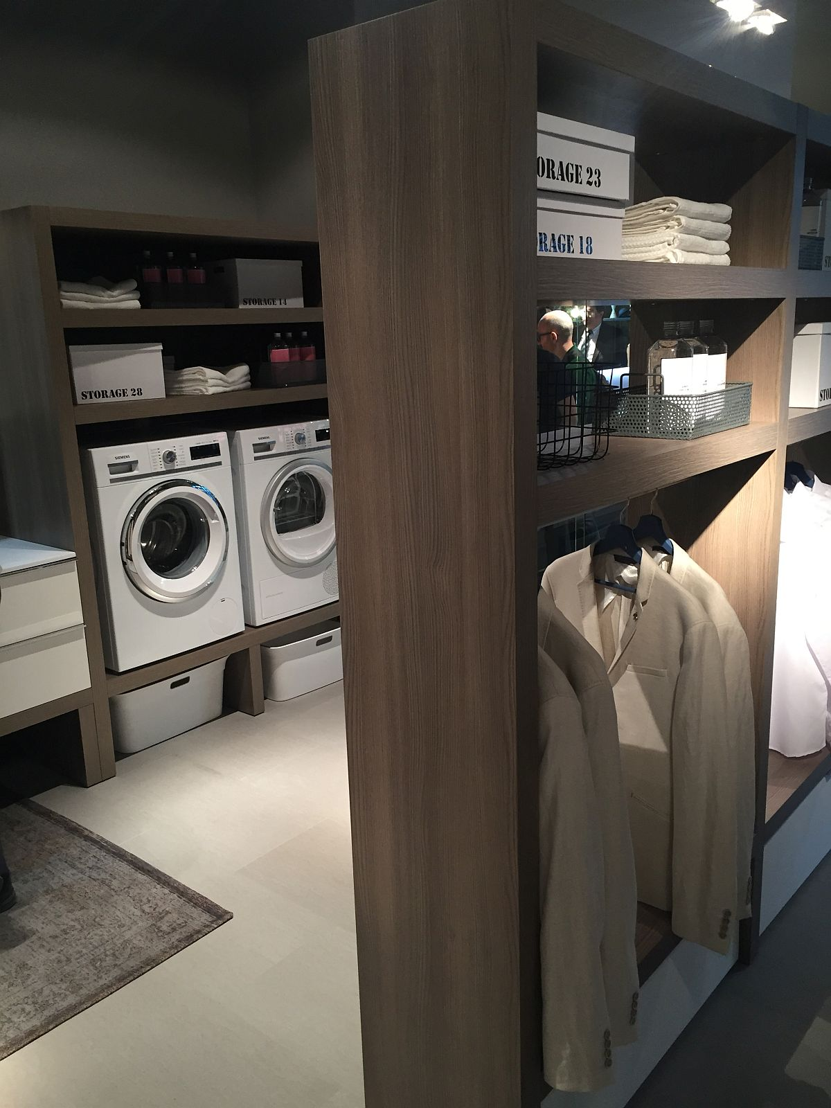 Combine your bedroom wardrobe and laundry needs into one
