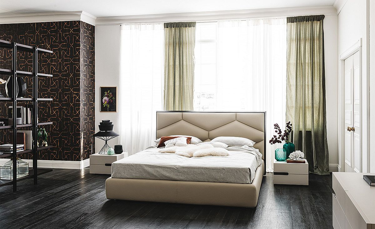 contemporary beds Contemporary Beds for Comfortable and Cozy Bedrooms Comfy Upholstered bed Edward from Cattelan Italia