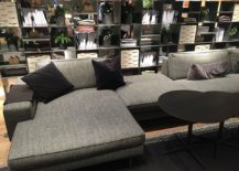 Comfy contemporary couch in gray from Verzelloni