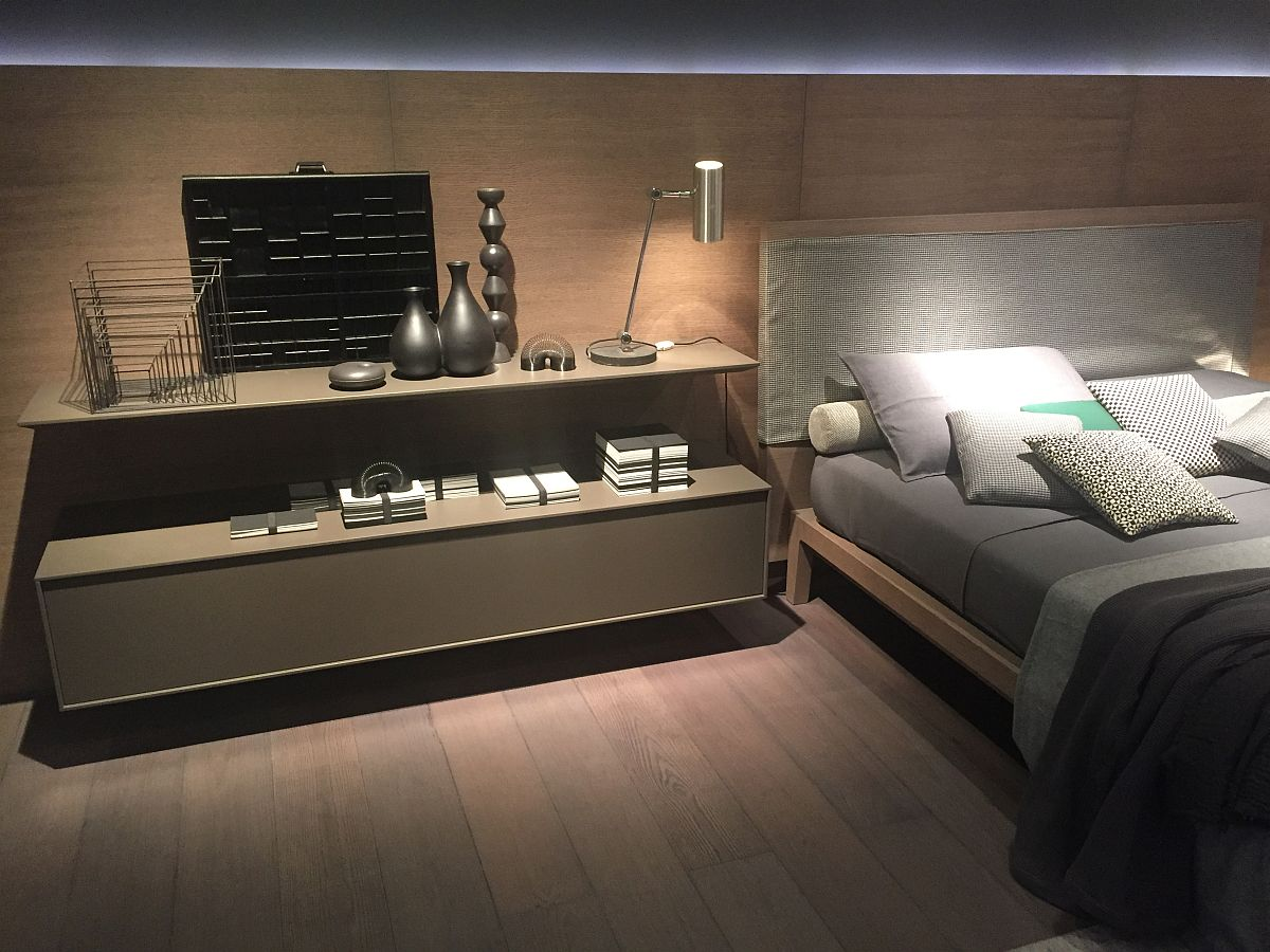 Contemporary bedroom inspiration with sleek nightstand and classy bed from Giellesse