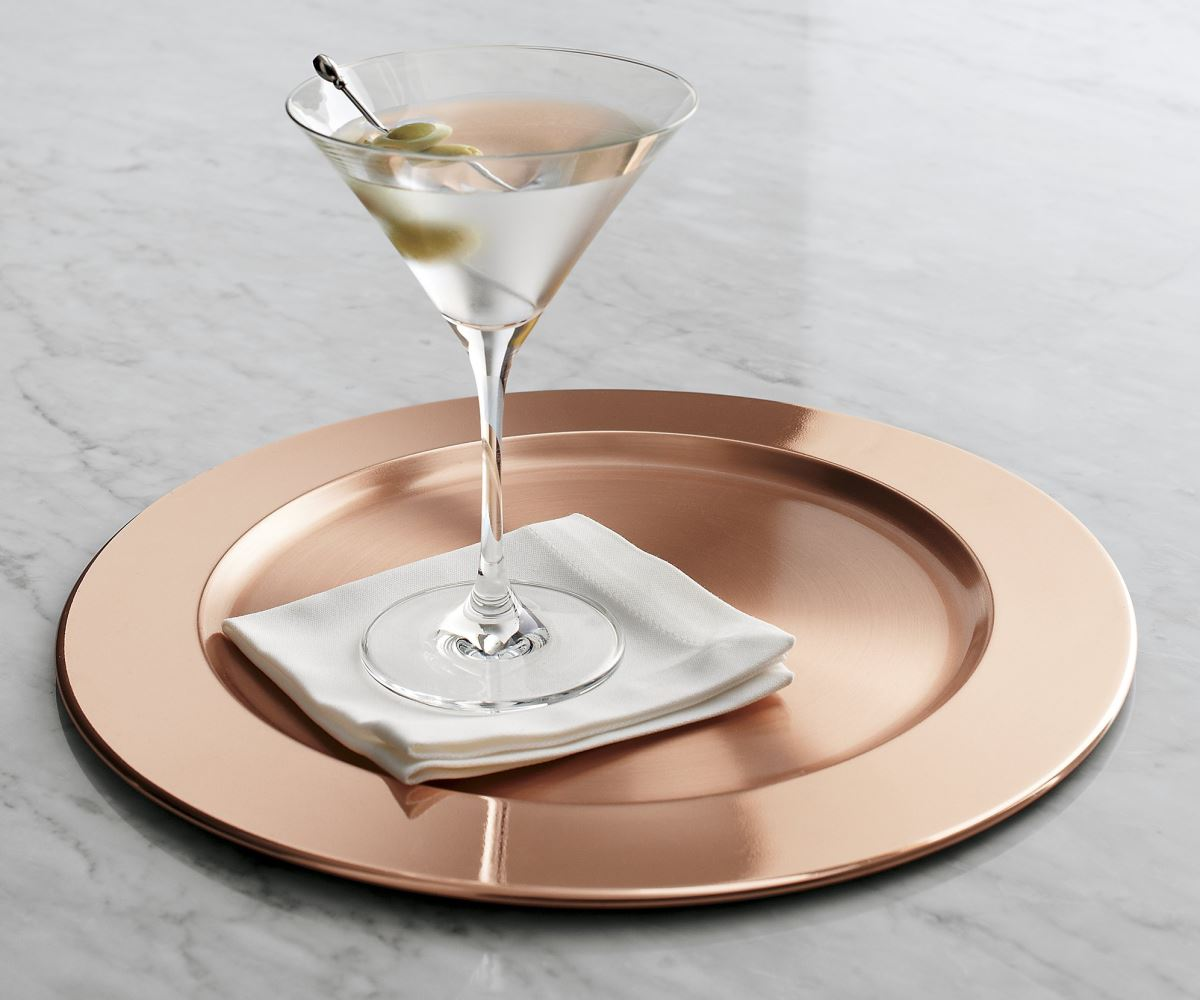 Copper charger from Crate & Barrel