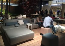 Create a relaxing outdoor hangout on the deck connected with the interior - Manutti at Milan 2016