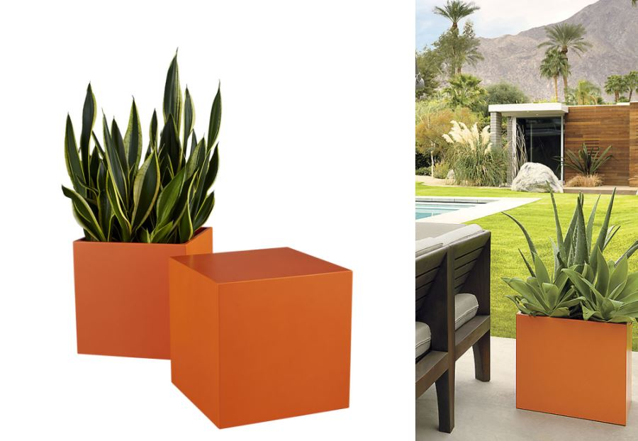 Cube planter from CB2