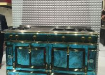 Custom kitchen range from La Cornue brings class and color to the kitchen