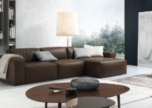 Daniel sectional sofa in chocolate brown 217x155 Chic Modular and Sectional Sofas: Up your Living Room's Style Quotient