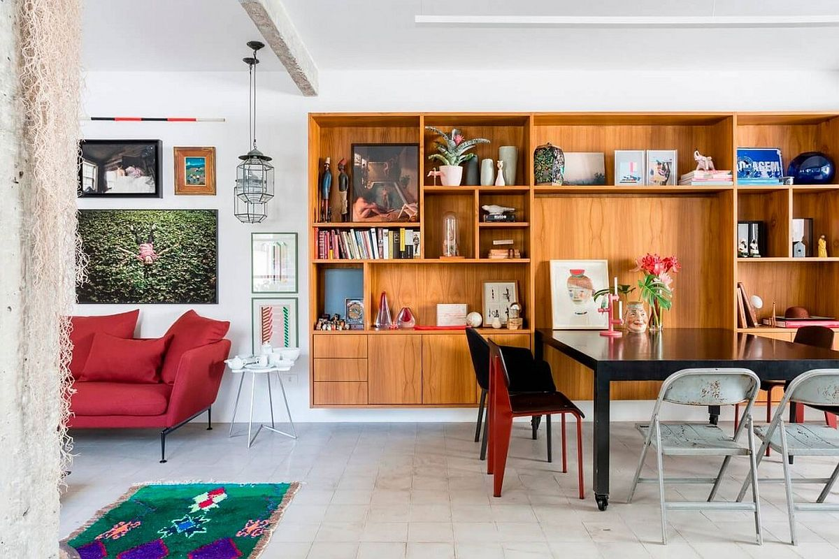 Delightful artwork and books reinvent the living space