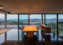 Dining area on the top level of the house with mesmerizing views