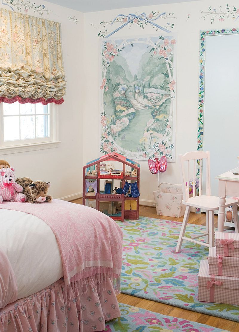 Dreamy and wonderful girls' bedroom seems to have jumped out of a fairytale! [Design: Designing Solutions]