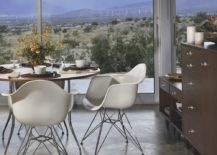 Eames Moulded Plastic Armchairs Eiffel base