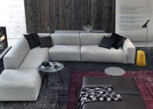 Elegant Daniel sofa in a more lighter, neutral hue