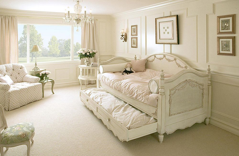 Elegant kids' bedroom with the versatile Charlotte Day Bed [Design: AFK Furniture]