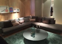 Elegant sectional and coffee table idea for lovers of gray - Milan 2016