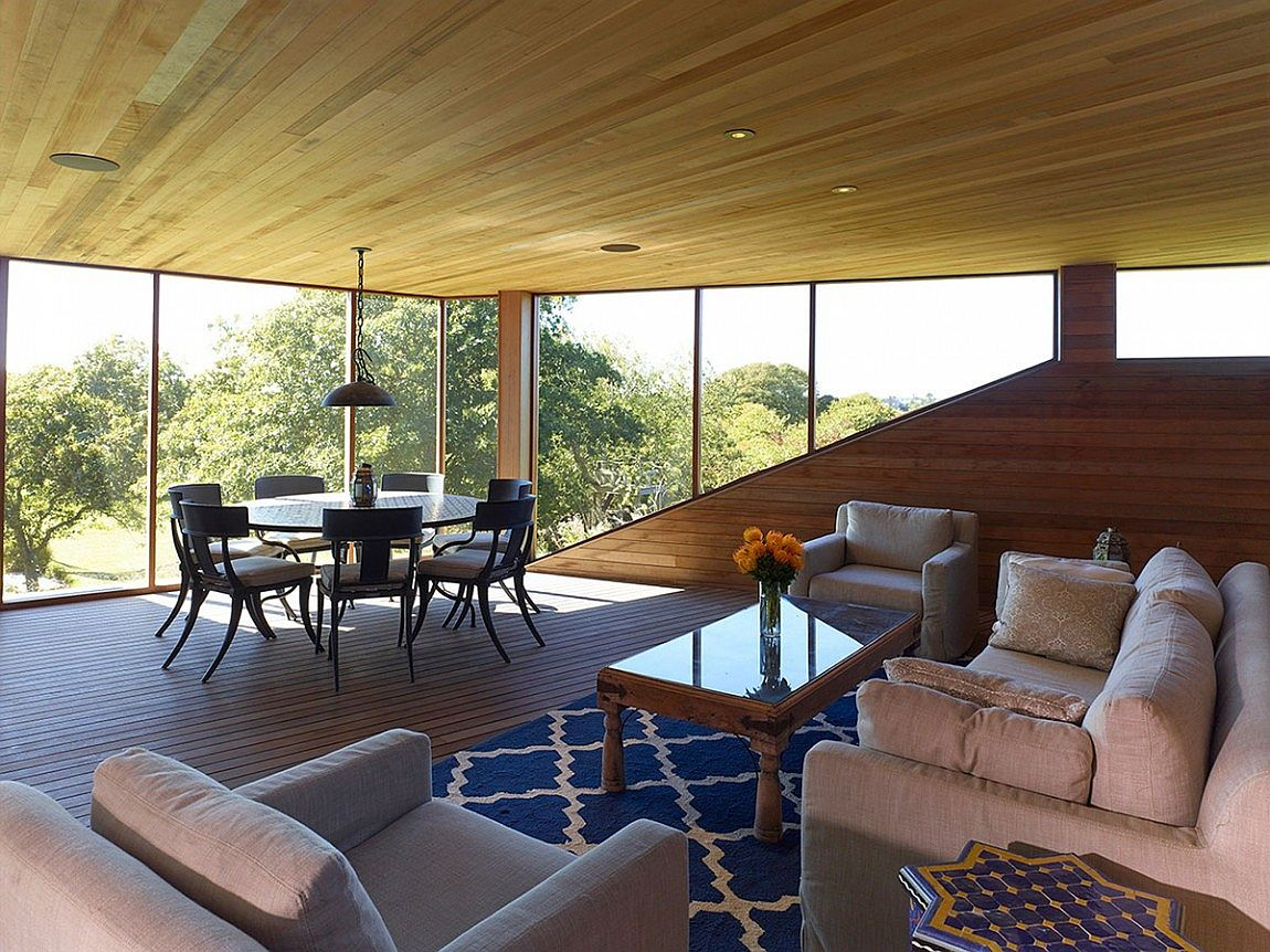 Elevated interior space with a wonderful view of the outdoors