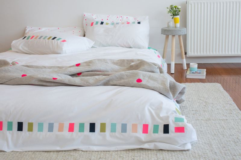 Embroidered bedding from Feliz