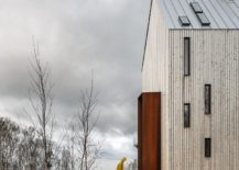 Entry of the cabin acts as a windbreaker and is inspired by local design