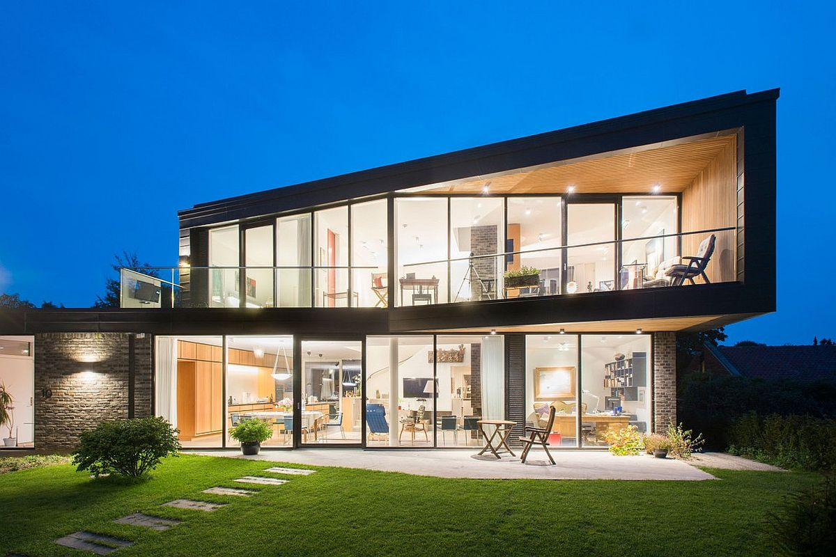 Exclusive contemporary residence in glass and metal by C.F. Moller in Denmark
