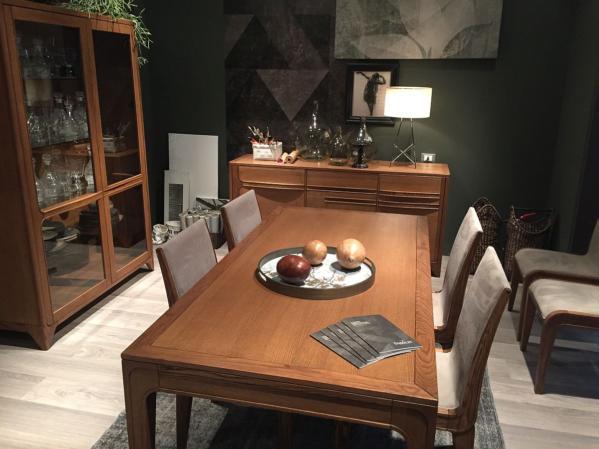 25 Elegant And Exquisite Gray Dining Room Ideas: Exquisite Dining Table, Dining Room Hutch And Sideboard In