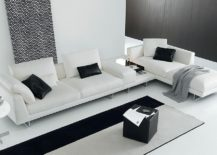Exquisite modular sofa in pristine white for the contemporary living room