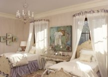 Fabulous girls' bedroom has a timeless and elegant aura