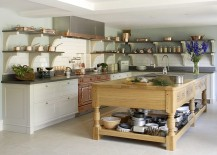 Fabulous kitchen with custom copper and stainless steel La Cornue range