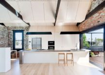 Fabulous modern kitchen of contemporary home in Australia that was once an industrial warehouse