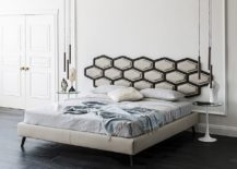 Fabulous new contemporary bed with hanging headboard