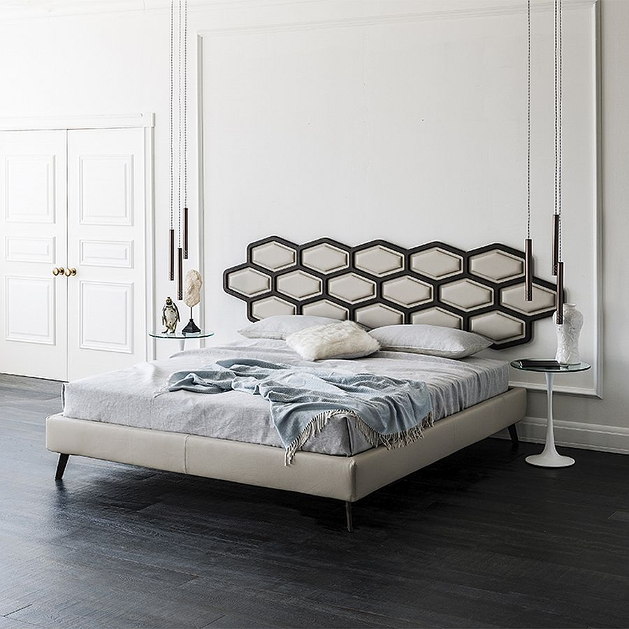 view in gallery fabulous new contemporary bed with hanging headboard