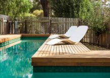 Fabulous pool deck creates a relaxing retreat at home perfect for a staycation