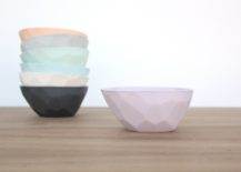 Faceted bowls from Bean & Bailey