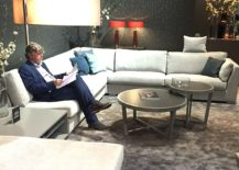 Fascinating new living room decor unveiled by JAB Anstoetz at Milan 2016