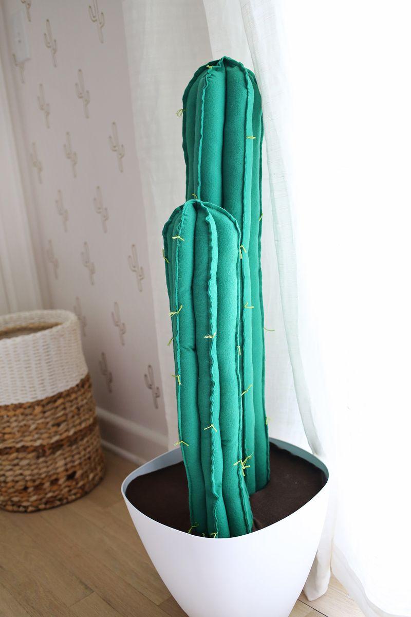 Felt cactus DIY from A Beautiful Mess