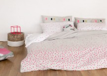 Fluorescent dotted bedding from Feliz