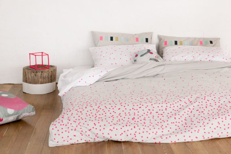Perfect View In Gallery Fluorescent Dotted Bedding From Feliz