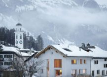 Former barn house in village sqaure turned into a lovely contemporary home in Sils im Engadin, Switzerland