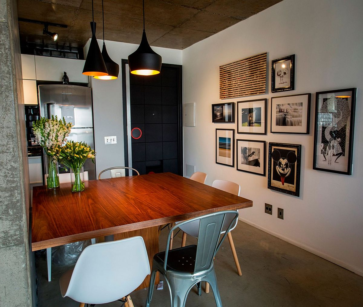 Concrete cement and creative lighting space savvy - Apartamentos tipo loft ...